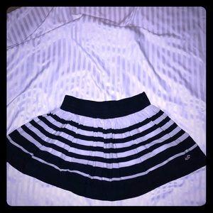 Hollister Blue+White Mini Skirt Medium